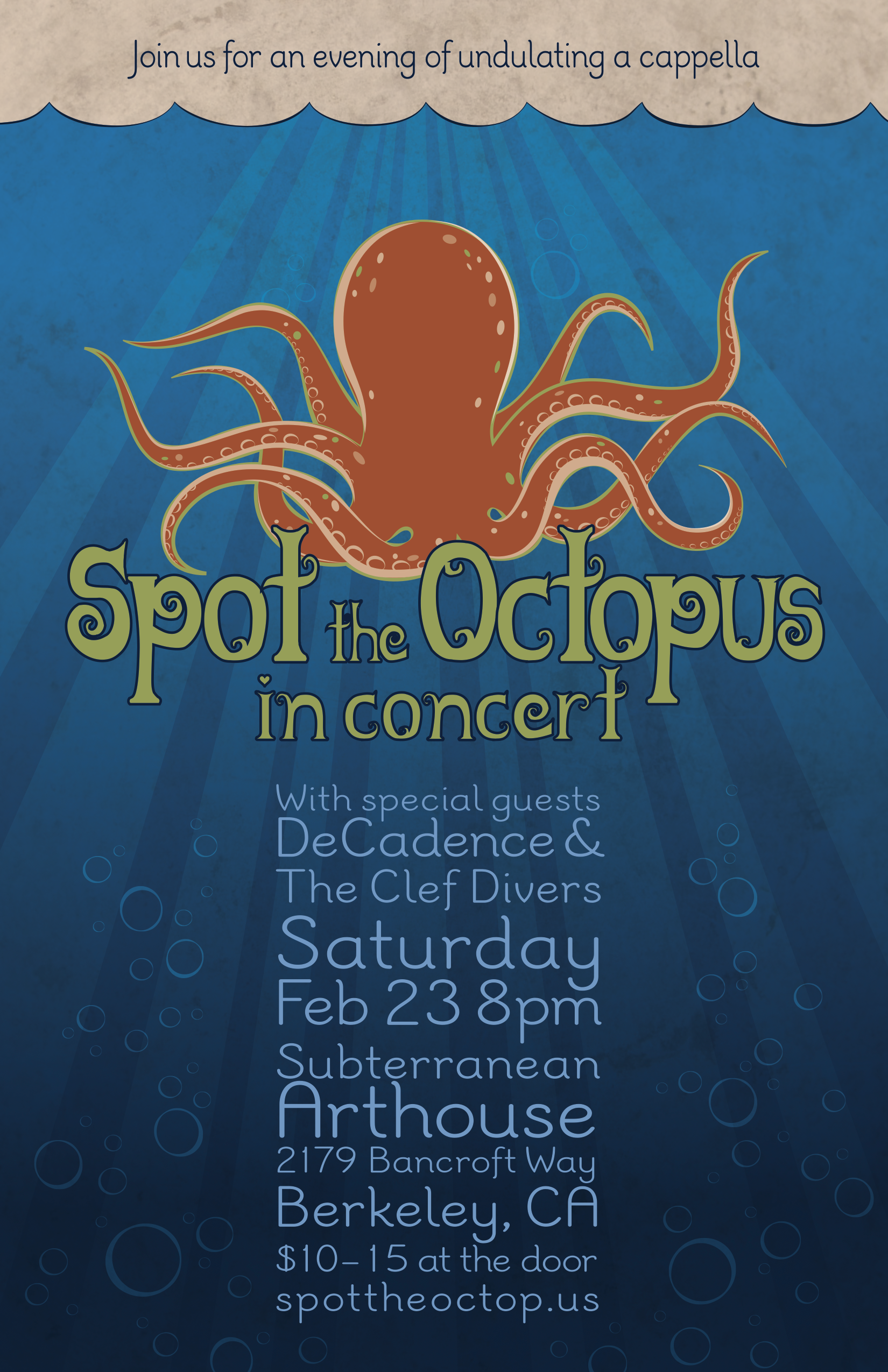 Spot the Octopus In Concert
